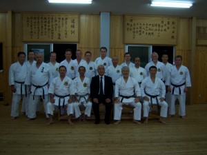 Training in Teruya Sensei Dojo