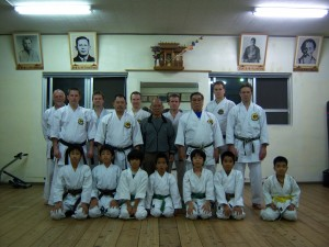 Training in Hichiya Sensei Dojo